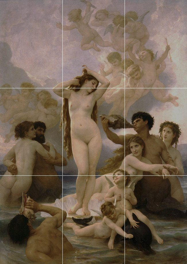 Mastering Composition with the Canon of Design-Bouguereau Painting no thirds