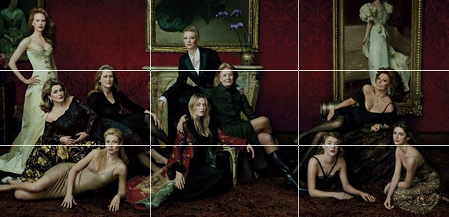 Mastering Composition with Annie Leibovitz - rule of thirds grid