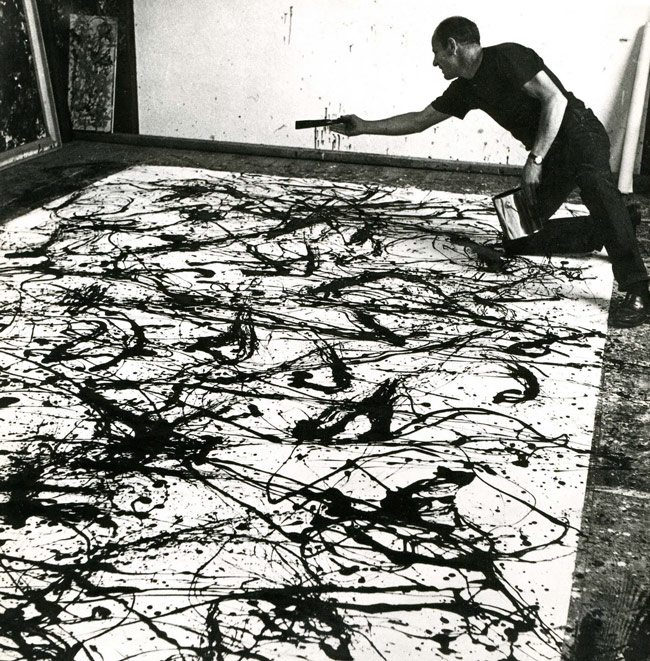 Pollock-at-Work,-1950