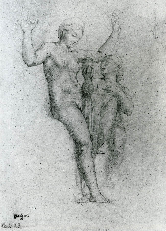Venus_and_Psyche_after_Raphael_by_Degas