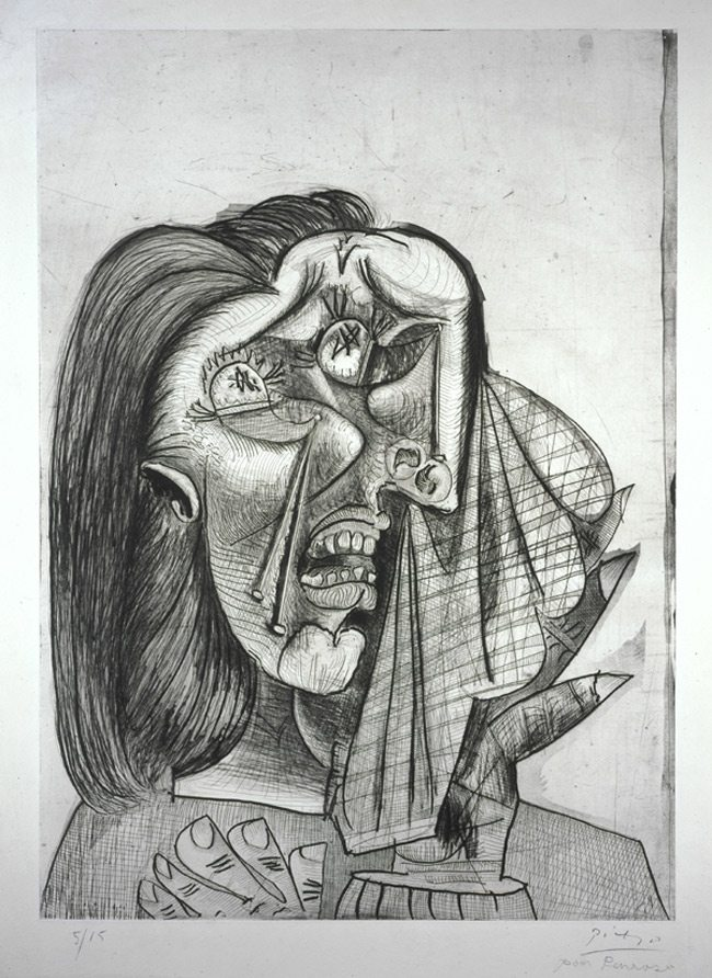 Picasso-Weeping-Woman-original-drawing