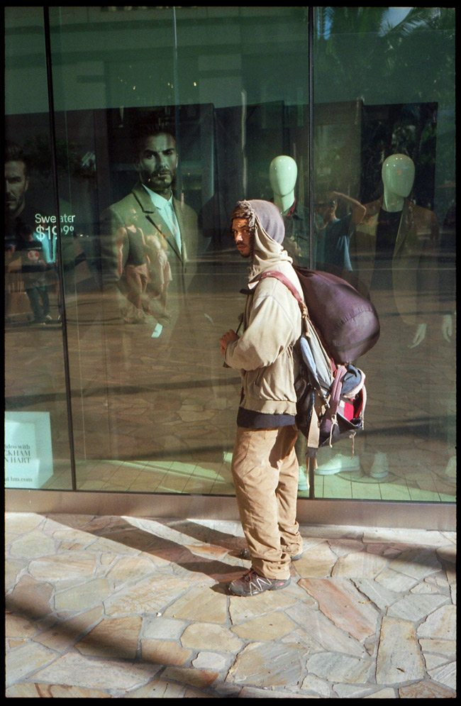 Window-Display-Homeless-Juxtoposition-Tavis-Leaf-Glover