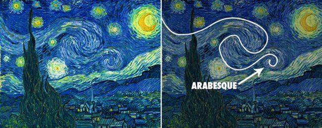 VanGogh-starry_night-with-arabesque