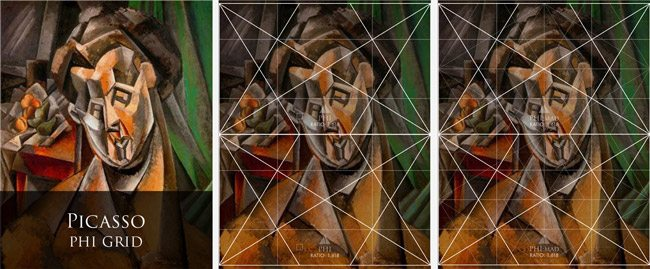 Mastering-Composition-with-dynamic-symmetry-grids-picasso-Woman-and-pears-2-phi