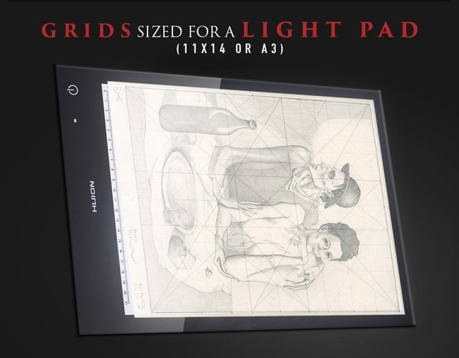 Mastering-composition-with-grids-on-a-light-pad-huion-lb4