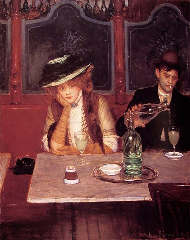 Mastering Composition with Absinthe Paintings025les-buveur-dabsinthe-by-jean-beraud