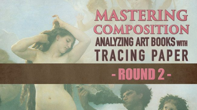 Mastering-Composition-using-tracing-paper-in-art-books-bouguereau