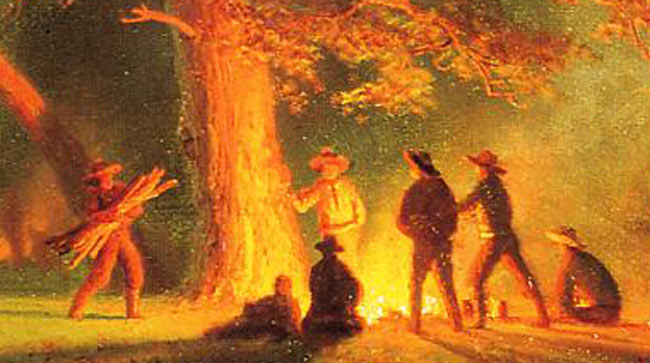 Canon-of-Design-Camping-and-Campfires-nowadays-Bierstadt_Albert_Oregon_Trail-detail