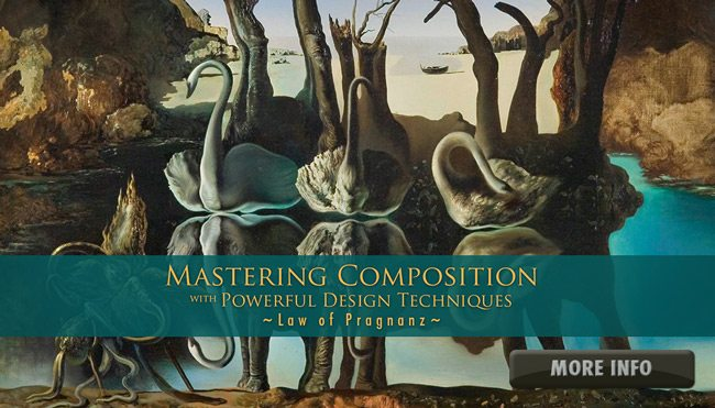 Mastering Composition Videos Law-of-Pragnanz-Salvador-Dali-More-Info