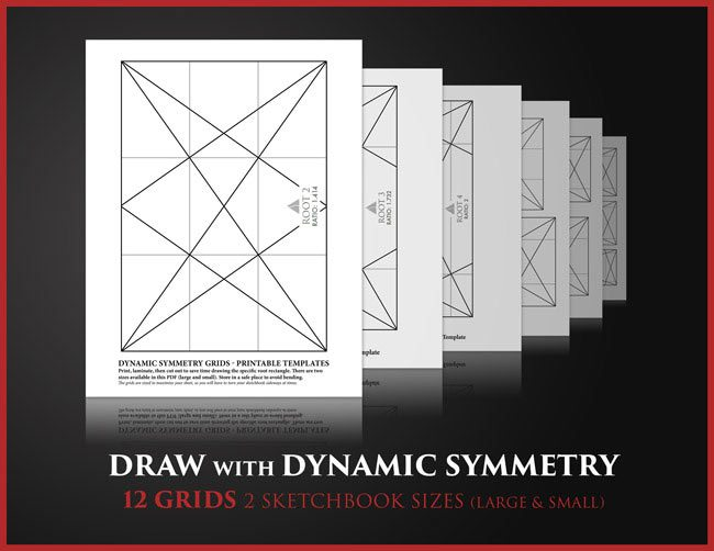 Canon-of-Design-Drawing-Game-for-dynamic-symmetry-composition-and-gestalt-psychology-root-rectangle-grids-display