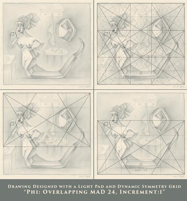 Dynamic-Symmetry-drawing--Shower-room-of-a-goddess-tavis-glover-with-phi-grids