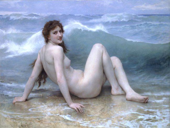 Law of Similarity-Gestalt psychology-William Adolphe-Bouguereau-The Wave