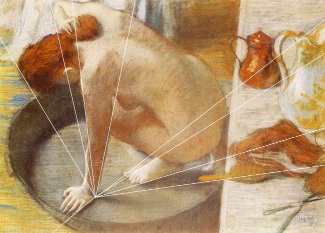 Law-of-continuity-gestalt-psychology-Edgar Degas-Radiating lines