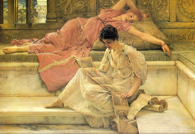 Law of continuity-gestalt psychology-The_Favorite_Poet_Sir_Lawrence_Alma-Tadema_1888