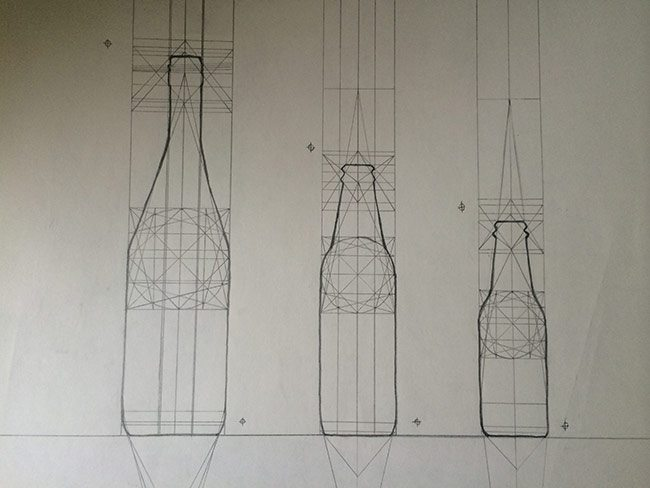 dynamic symmetry used for drawing-Bottle-barnstone-glover-construction