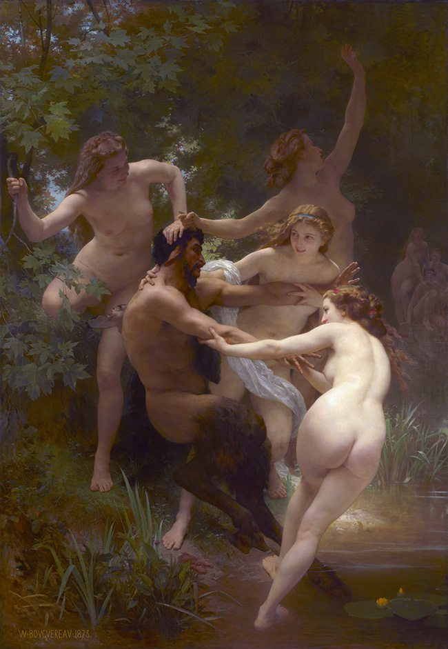 Mastering Composition - Henri Cartier-Bresson using Dynamic Symmetry - Bouguereau Painting Nymph and Satyr
