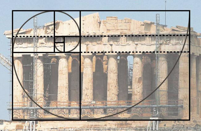 golden-ratio-in-nature-and-structures-Parthenon-with-phi-spiral